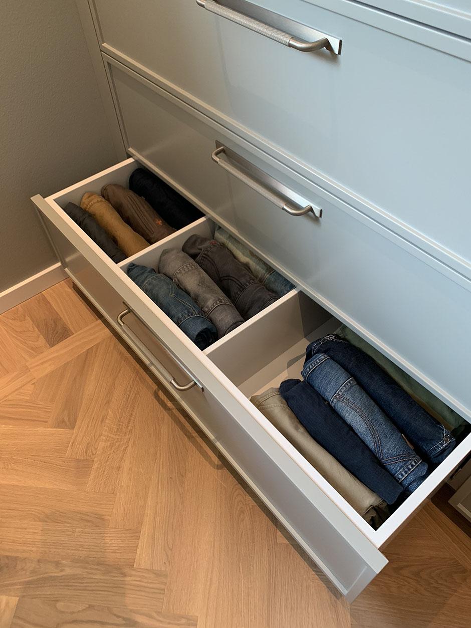 Garderobsluckor smala ramar